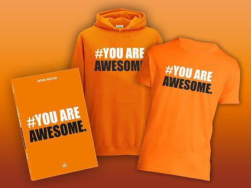 Zestaw książka + koszulka + bluza #YouareAwesome