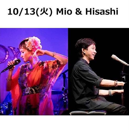 10/13(火) 19:30~ Mio & Hisashi