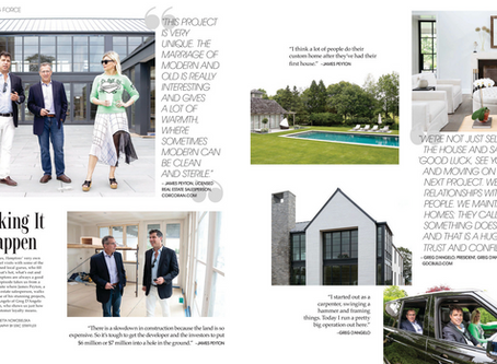 "Greg is interviewed for Hamptons Magazine Real Estate piece: ""SPACE-Driving Force"""