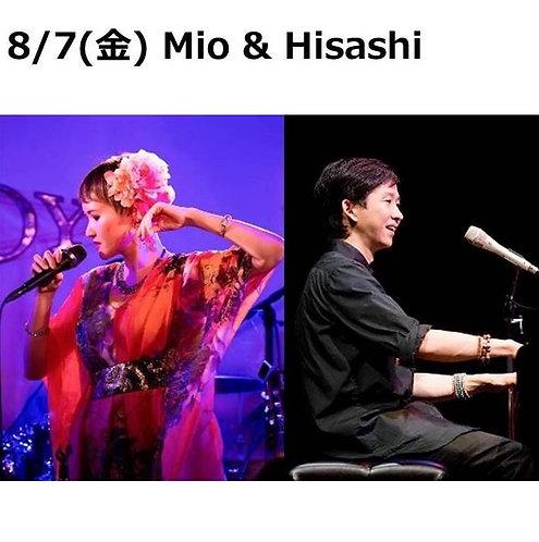 8/7(金) 19:30~ Mio & Hisashi