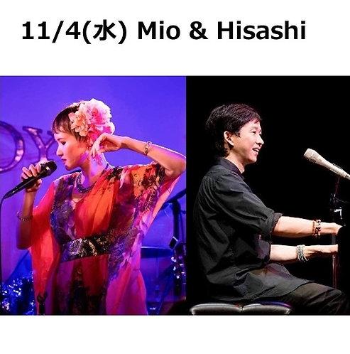 11/4(水) 19:30~ Mio & Hisashi