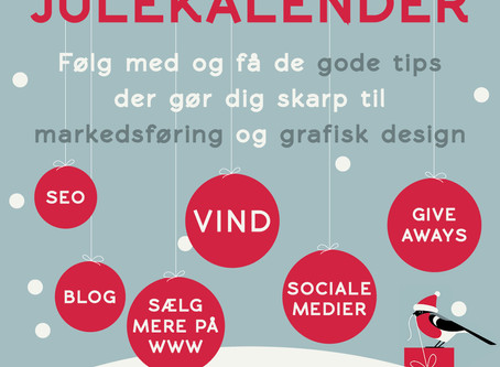 Vil du have gode idéer til at markedsføring og grafisk design - så følg med i Detaljeriets julekalen