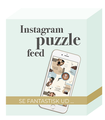 Instagram puzzle feed - Salgsside produk