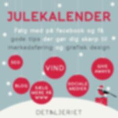 Detaljeriets Julekalender markedsføring
