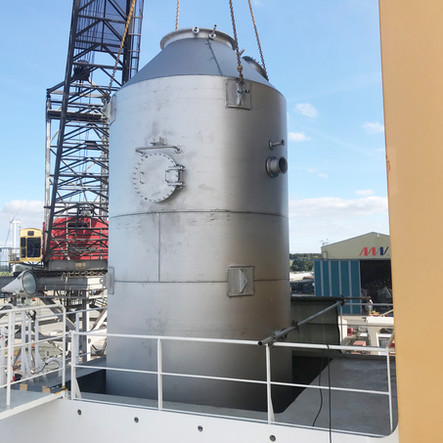 Installation of SOx Scrubber