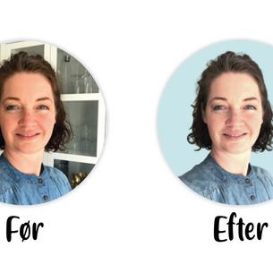 GRATIS MINI-KURSUS: Sådan får du dit profilbillede fritlagt på en farvet baggrund