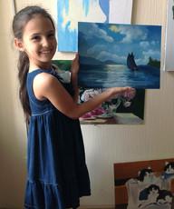 Девочка с картиной