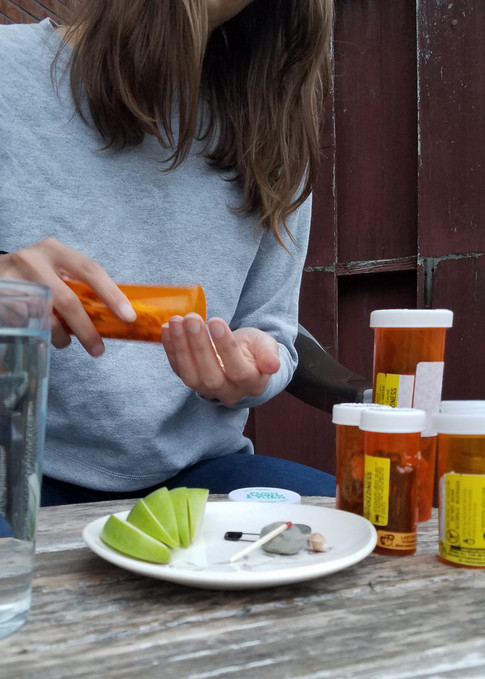 Pouring out my pills