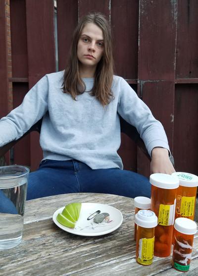 Self Portrait with my Emotional Labor Pills