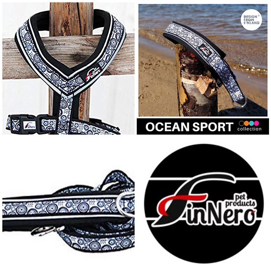 FinNero Collar, Lead and Harness Bundle