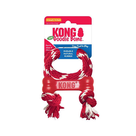 KONG Goodie Bone with Rope - XS