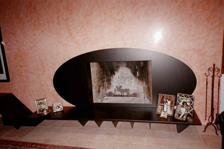 living fireplace detail