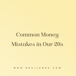 Common Money Mistakes In 20's
