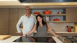 Eyal Gamili Holtzeker and his wife Shani