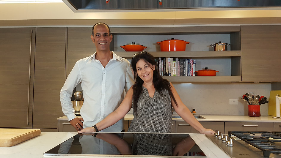 Eyal Gamili Holtzeker and his wife Shani