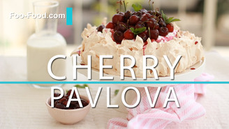 A cherry Pavlova cake perfect for summer