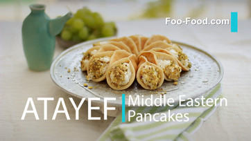 Katayef or Atayef Middle Eastern pancakes