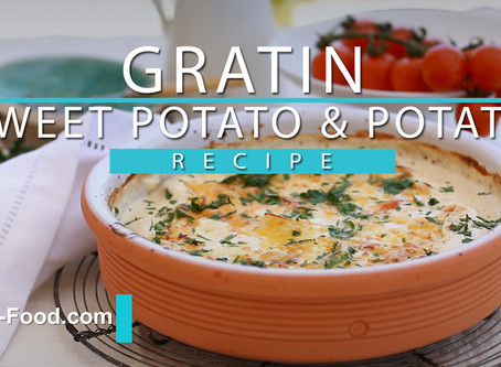 Tasty Gratin sweet potato & Potato recipe