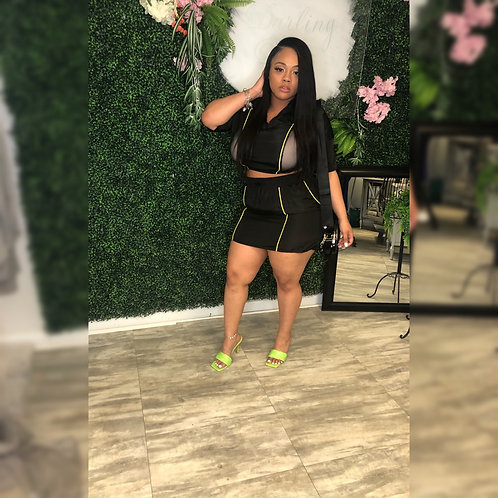 Lime & Black Swish It Set