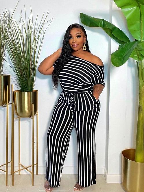 Boss Babe Comfy Stripe Jumpsuit