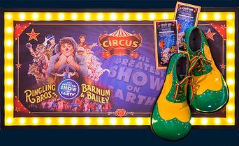 Custom framed clown shoes