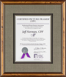 Jeff Norman CPF Certificate