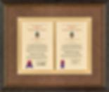 Custom framed certificates