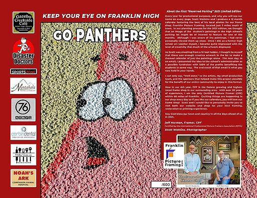 Franklin High School 2021 Calendar - Back Cover
