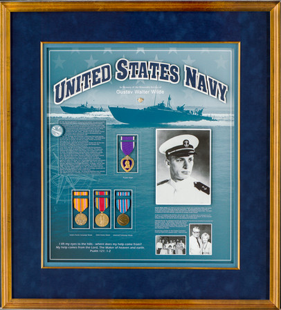 U.S. Navy Memorial Shadowbox Frame with Medals
