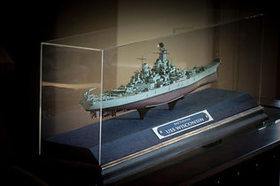 Acrylic case with model ship