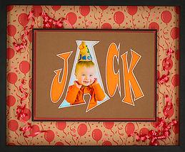 First birthday framed photo