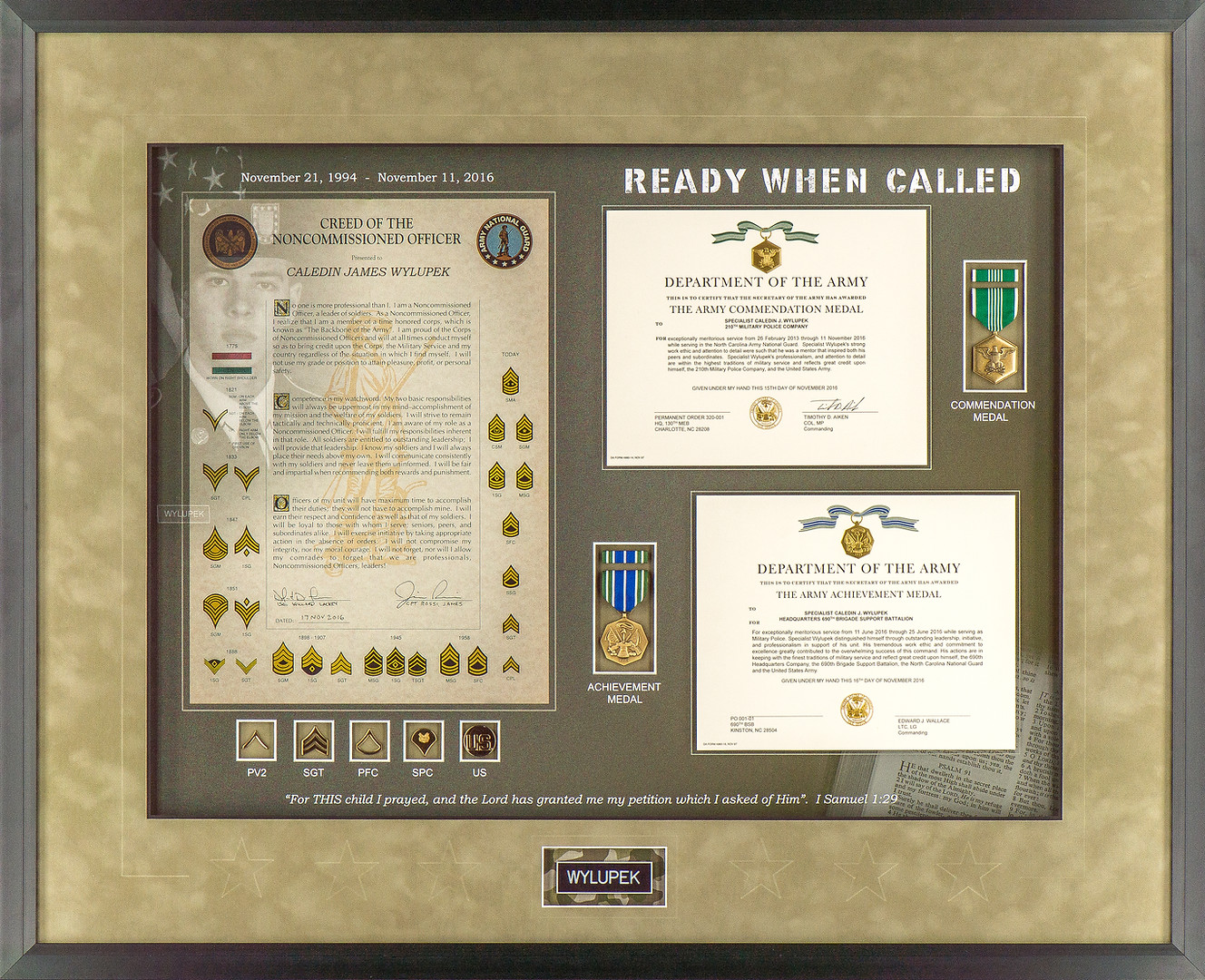 U.S. Army Achievement Certificates