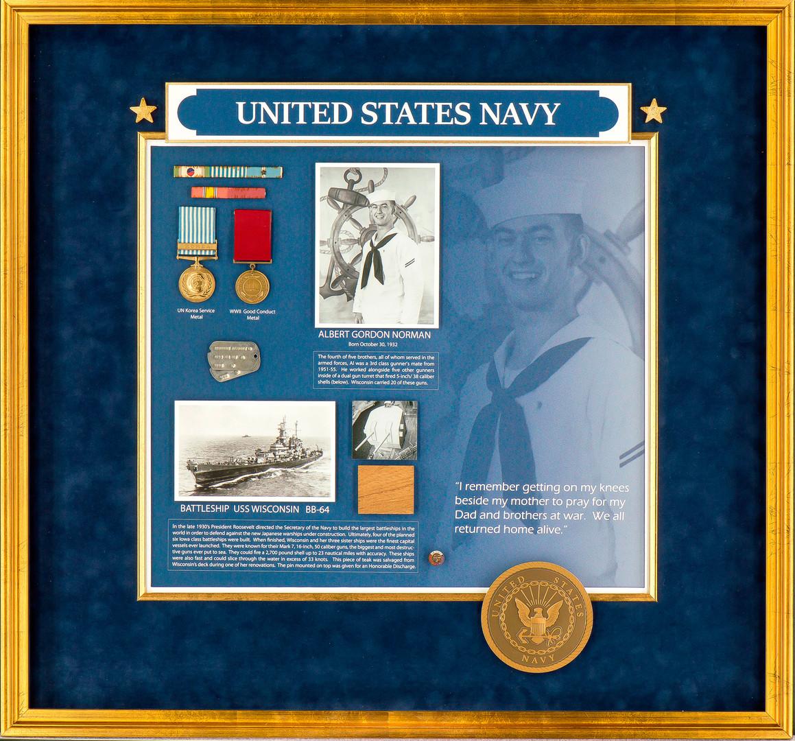 Navy Veterans Shadowbox
