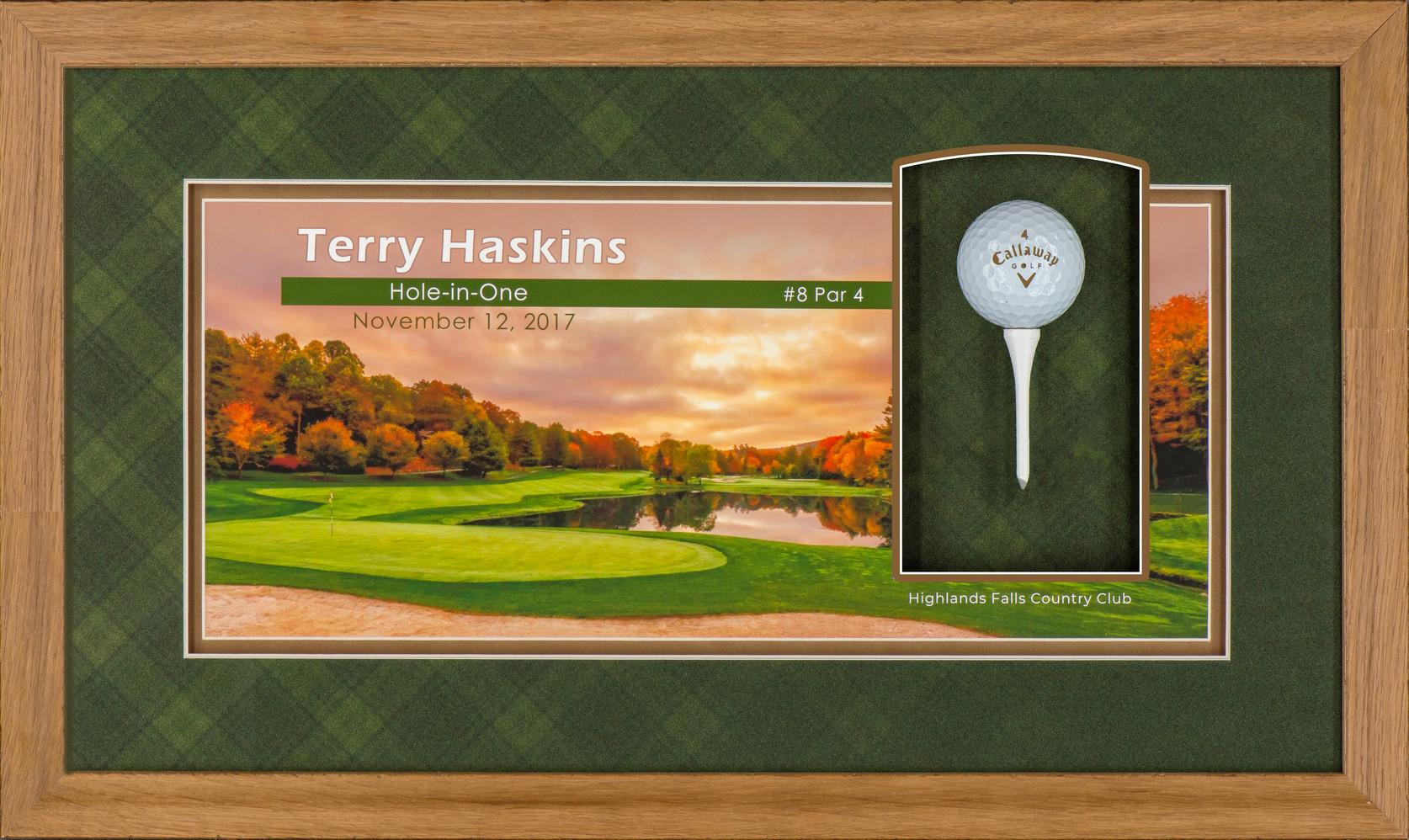 Hole-in-One Framed Golf Ball
