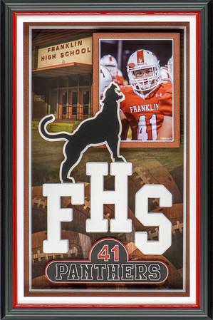 Franklin High School Football Shadowbox