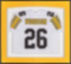 Framed football jersey
