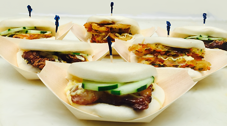 Six Slurp Bao Buns featuring the Pork Bun, Chicken Bun and Veggie Bun