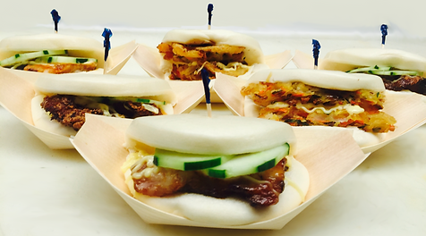 Six Slurp Bao Buns featuring the Pork Bun, Chicken Bun and Veggie Bun