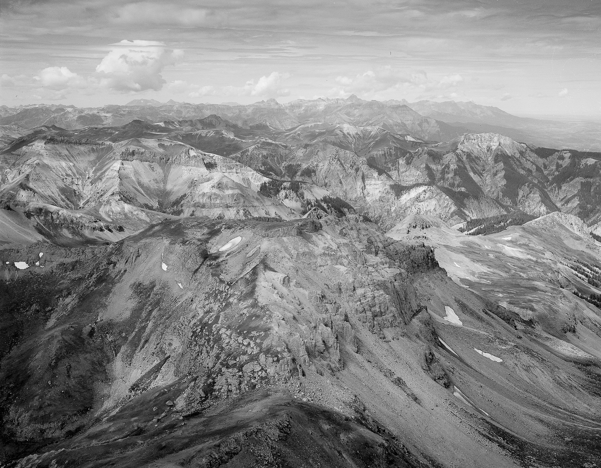 Looking West from Wetterhorn Peak