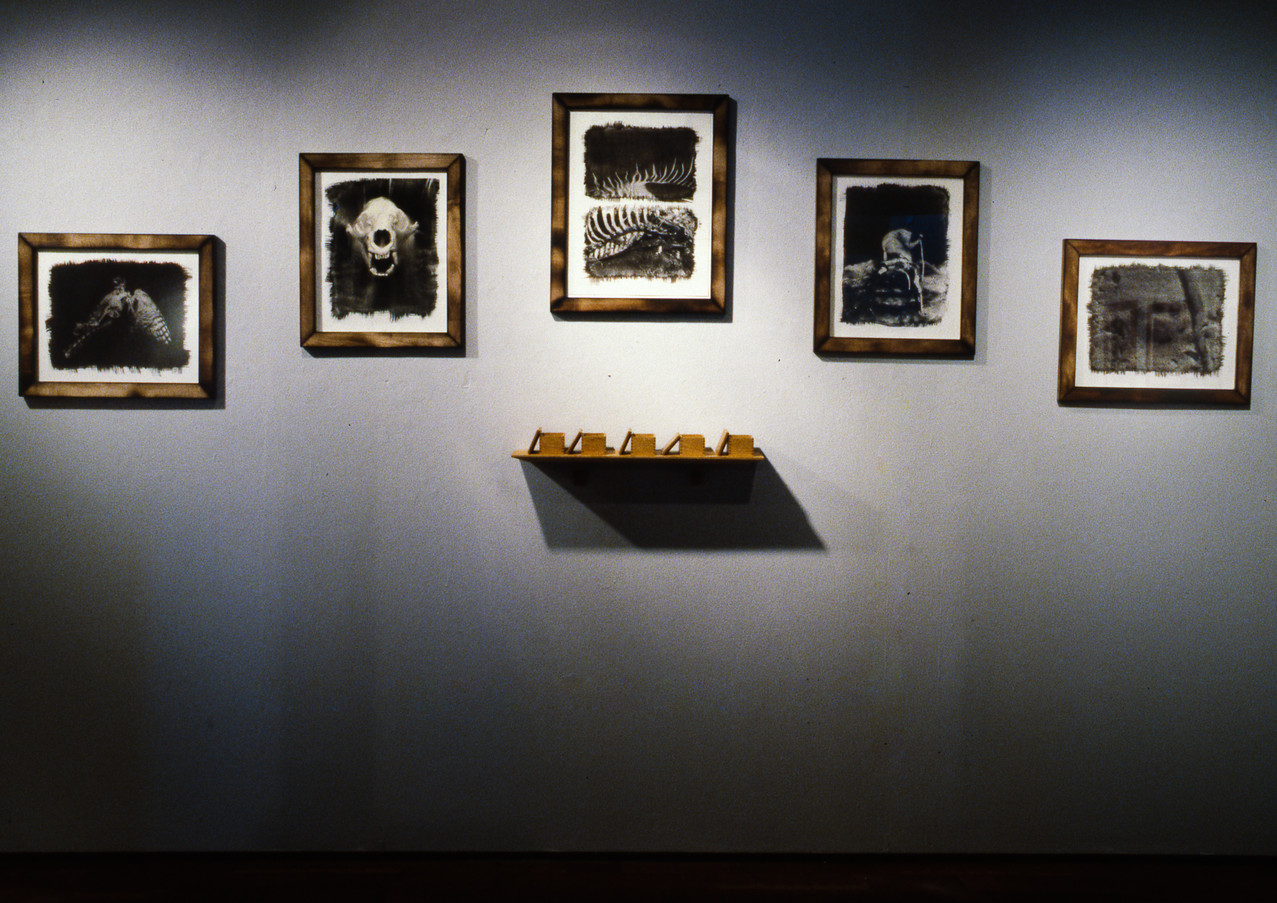 Gallery installation view while an artist-in residence at Anderson Ranch Arts Center in Snowmass Village, Colorado, 1995.