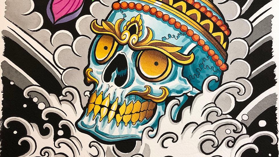 Tibetan Skull Print