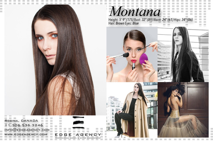 Top EDGE AGENCY International Model Montana off to Shanghai