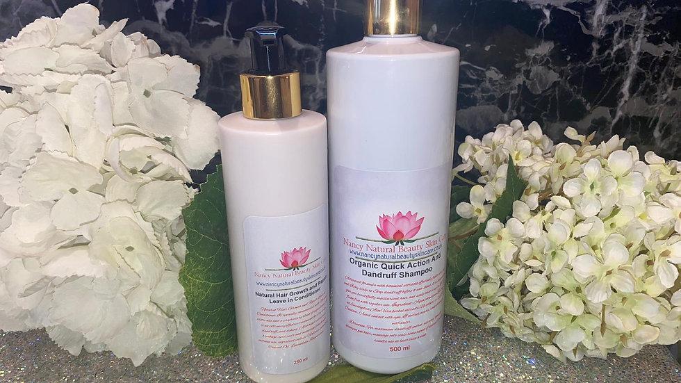 Organic Quick Action Anti Dandruff Shampoo & Leave in Conditioner