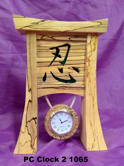 Peace clock 2 spalted beech
