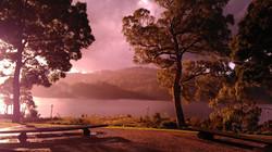 Sunset over Lake Rosebery