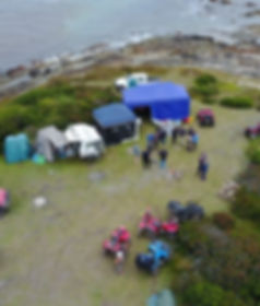 Camping at Granville Harbour, Close to the Peiman Heads.