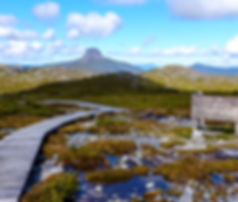 Cradle Mountain a shot distance fromTullah Lakesie Lodge on the West Coast of Tasmania