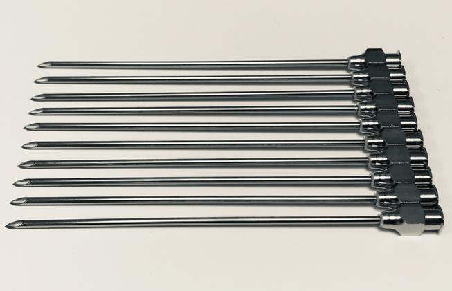 Luer fitting needles