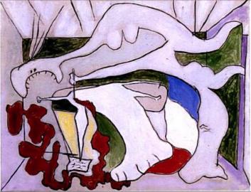 אישה עם פגיון (מות מרה), פבלו פיקסו,