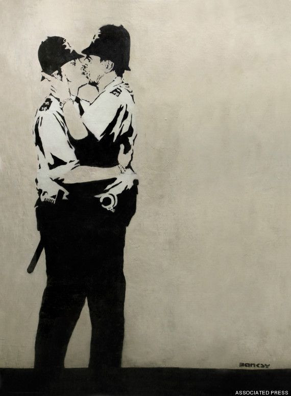 Banksy, The Kissing Police Officers